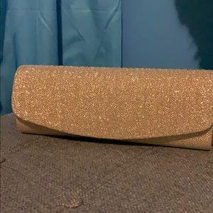 Handbags - Gold and silver clutch with chain